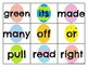 Second Grade Sight Word Cards Easter