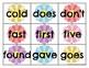 Second Grade Sight Word Cards Spring