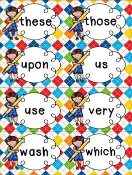 Second Grade Sight Word Cards - Spring Themed