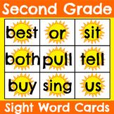 Second Grade Sight Word Cards Summer