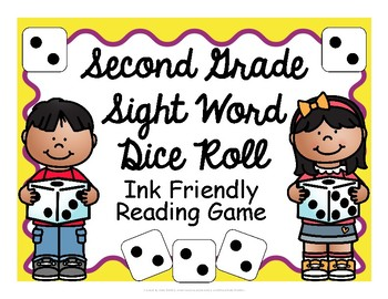 Second Grade Sight Word Dice Roll - Ink Friendly Reading Game