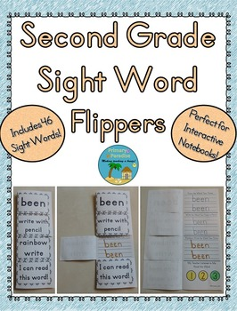 Sight Word Flippers for Second Grade: 46 Words
