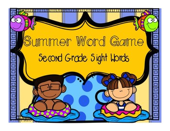 Second Grade Sight Word Game