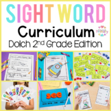 Dolch Sight Words Second Grade   Activities, Literacy Centers, Worksheets