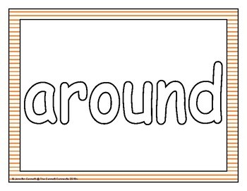 Second Grade Sight Word Mats