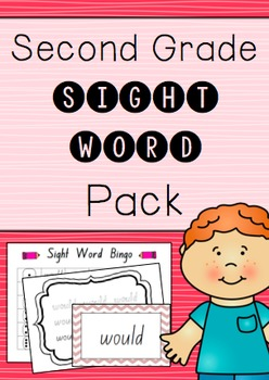 """Second Grade"" Sight Word Pack"