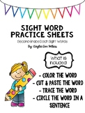 Second Grade Sight Word Packet #homepacket