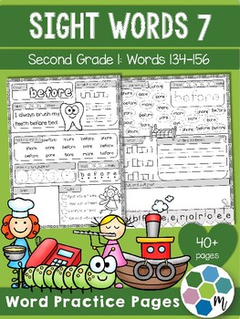 Second Grade Sight Word Practice 1