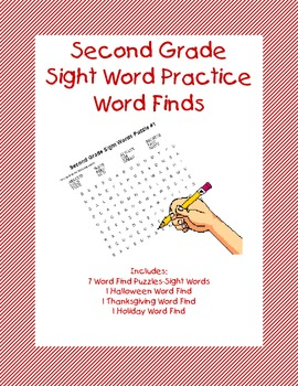 Second Grade Sight Word Practice-Word Finds
