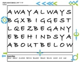 Second Grade Sight Word Search