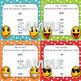Second Grade Sight Word Spelling Emoji Task Cards