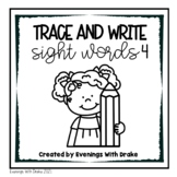Second Grade Sight Word Trace and Write Practice