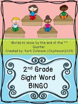 Second Grade Sight Words Bingo Third Quarter