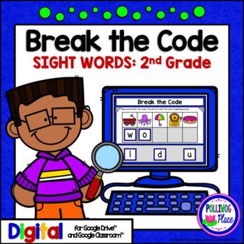 Second Grade Sight Words Break the Code Paperless Digital Resource for Google