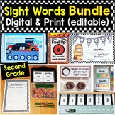 Second Grade Sight Words Bundle Editable Printable Pages &