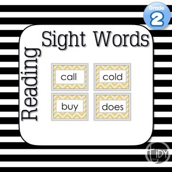  Second Grade Sight Words Chevron
