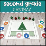 Second Grade Sight Words Christmas Tree Build