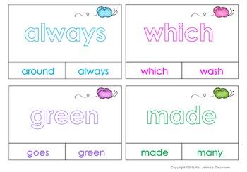 Second Grade Sight Words Clip It Cards