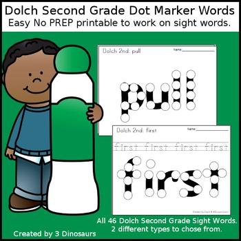 Second Grade Sight Words Dot Marker Words