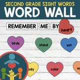 Second Grade Sight Words - Heart Word Wall