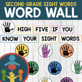 Second Grade Sight Words - High-Five Word Wall
