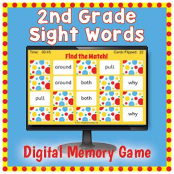 DIGITAL Sight Word Matching Game - 2nd Grade