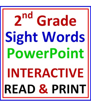 Second Grade Sight Words Power Point Lesson (Interactive)
