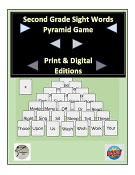 Second Grade Sight Words Pyramid Game