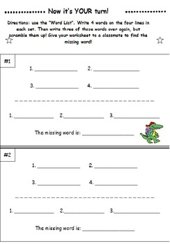 Second Grade Sight Words SCRAMBLE Booklet
