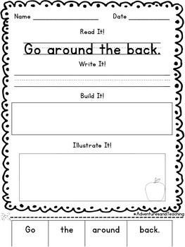 Second Grade Sight Words Sentence Builders