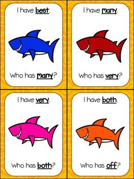 Second Grade Sight Words Station Games