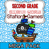 Sight Word Practice Literacy Station Games: Second Grade