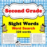 Second Grade Sight Words, Word Search, Distance Learning