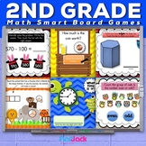 Second Grade Math Smart Board Promethean Flipchart Games BUNDLE