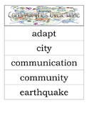 Second Grade Social Studies - Communities Over Time - Word Wall Vocabulary