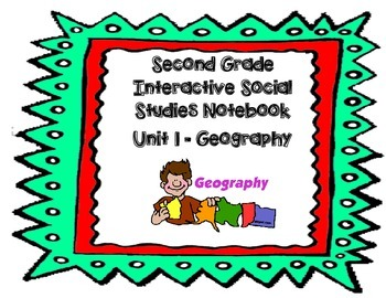Second Grade Social Studies Interactive Notebook Unit 1 Geography