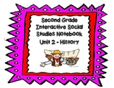 Second Grade Social Studies Interactive Notebook Unit 2 History