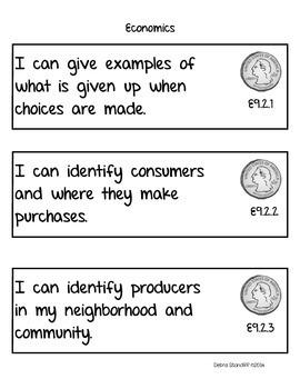 Social Studies Standards Second Grade