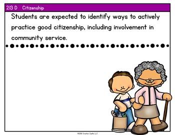 Second Grade Social Studies TEKS