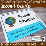 Second Grade Social Studies TEKS I Can Statements