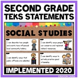 Second Grade Social Studies TEKS - Can and Will Standards Statements
