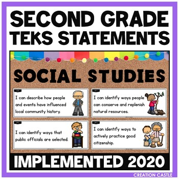 Second Grade Social Studies TEKS - Can and Will Standards