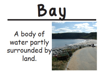 2nd Grade Social Studies Vocabulary Cards: Our Community's Geography (Large)