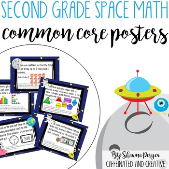 Second Grade Space Theme Math Common Core Posters