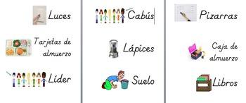 Spanish Class Job Titles (Los trabajos del salón)