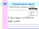 Second Grade Spanish Daily Warm-up Sample (Calentamiento Diario)
