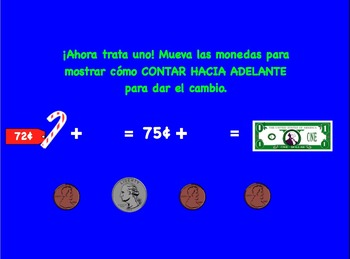 Second Grade Spanish Making Change Activity (Dando cambio)