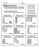 place value worksheets in spanish teachers pay teachers. Black Bedroom Furniture Sets. Home Design Ideas