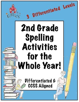 2nd Grade Spelling Activities for the Whole Year!  (Differentiated!)
