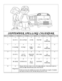 Second Grade Spelling Calendar with 99 Activities